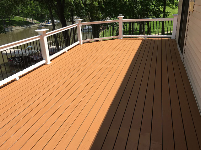 Deck Stained by HBP Painting Contractors