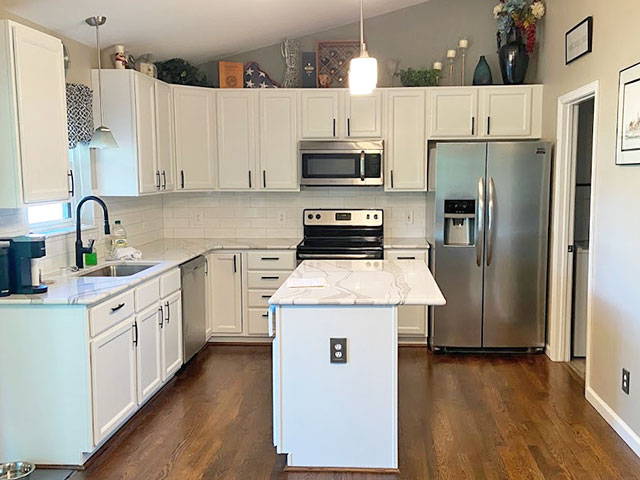 Interior Kitchen and Cabinets Painted by HBP Painting Contractors