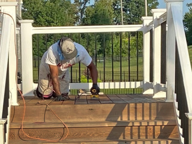 Deck Staining by HBP Painting Contractors