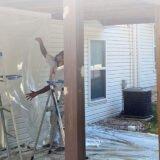 HBP Painting Contractors prepping job site