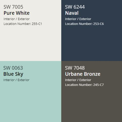 Popular Sherwin William cabinet paint colors