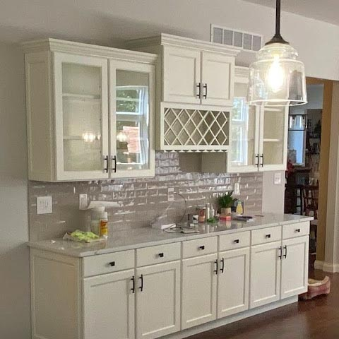 Kitchen cabinets painted by HBP Painting Contractors